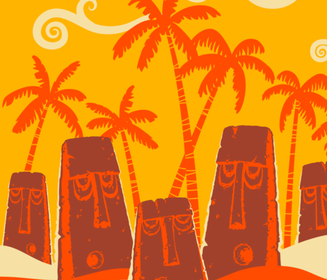Beached Idols fabric by vantiki on Spoonflower - custom fabric