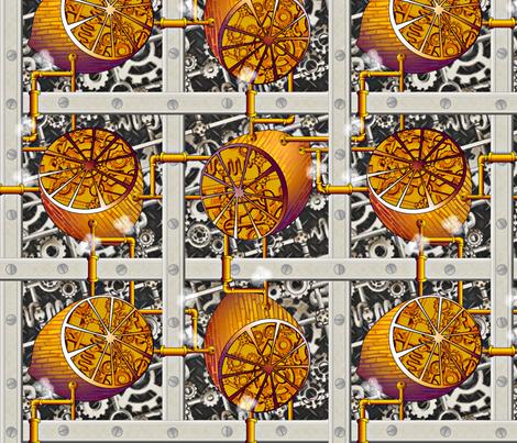 Steampunk Lemons - How Lemonade is Made - Full Steam Ahead Big fabric by glimmericks on Spoonflower - custom fabric