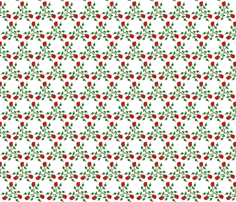Red Rose Triad fabric by ravynscache on Spoonflower - custom fabric