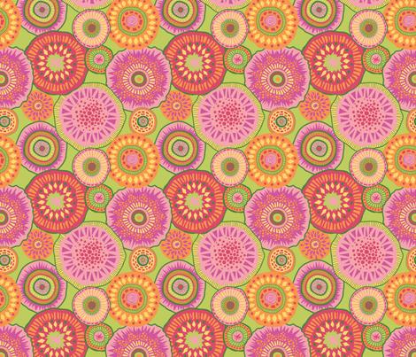 Fruitylicious-LIme fabric by groovity on Spoonflower - custom fabric