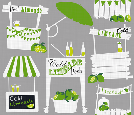 Julie's Limeade Stand fabric by juliesfabrics on Spoonflower - custom fabric