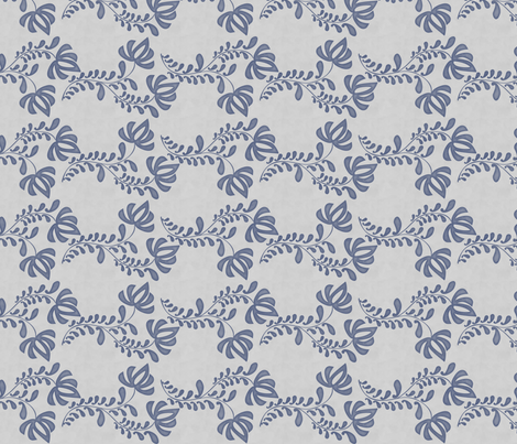 salt tulip blue fabric by glimmericks on Spoonflower - custom fabric
