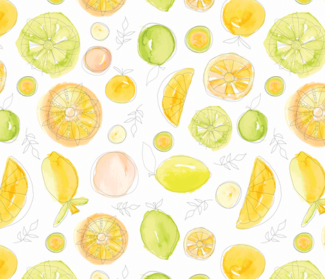Citron fabric by nancierowejanitz on Spoonflower - custom fabric