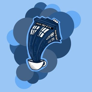Tardis in a teacup dots