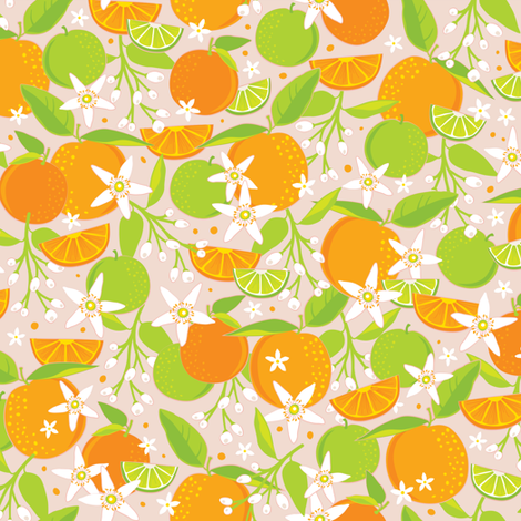 Citrus Grove fabric by jennartdesigns on Spoonflower - custom fabric