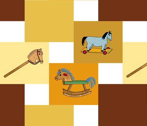 toy_horses_double_step fabric by khowardquilts on Spoonflower - custom fabric