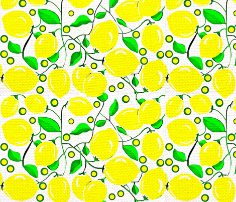 lemon tree 02 fabric by dk_designs on Spoonflower - custom fabric