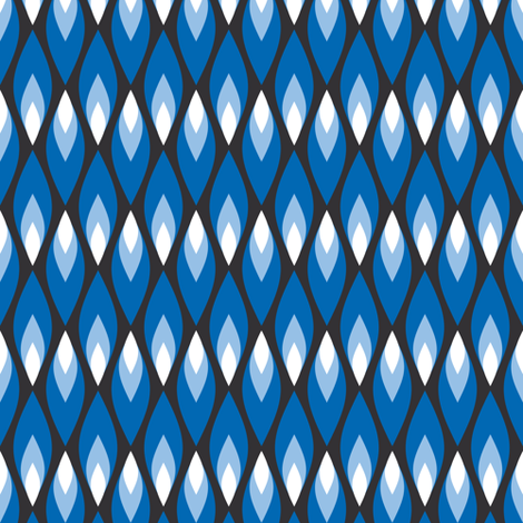 Small blue flames fabric by petitspixels on Spoonflower - custom fabric