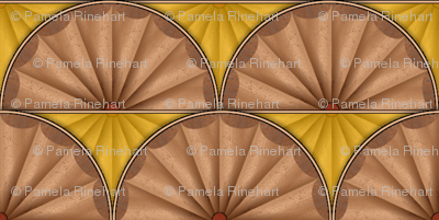 inlaid fan yellow