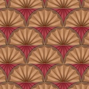 inlaid fan red