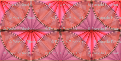 inlaid fan pink overlays
