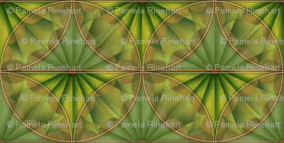 inlaid fan green overlays
