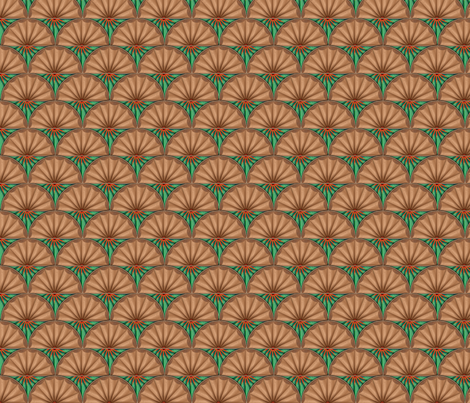 inlaid fan fabric by glimmericks on Spoonflower - custom fabric