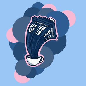 Tardis in a teacup simple pink