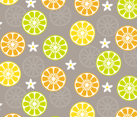 Orange, Orange, Lemon, Lime fabric by jenimp on Spoonflower - custom fabric