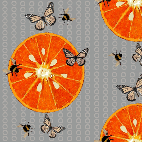 A Juicy Orange fabric by paragonstudios on Spoonflower - custom fabric