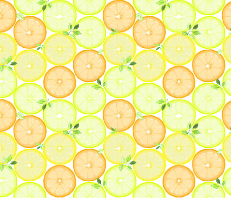 fresh citrus limonade fabric by katarina on Spoonflower - custom fabric