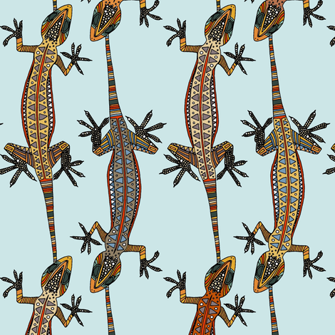 gecko stripe blue fabric by scrummy on Spoonflower - custom fabric