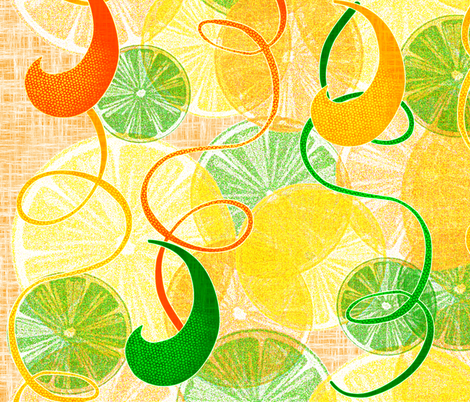 Citrus Parade fabric by glanoramay on Spoonflower - custom fabric