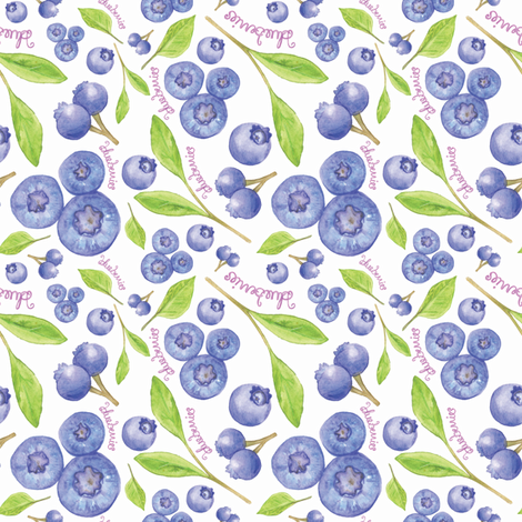 blueberries  fabric by jackiejean on Spoonflower - custom fabric