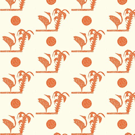 Flamingo   Palm fabric by boris_thumbkin on Spoonflower - custom fabric