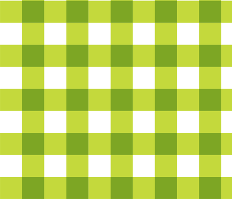 Chartreuse_Buffalo_Check fabric by kelly_a on Spoonflower - custom fabric