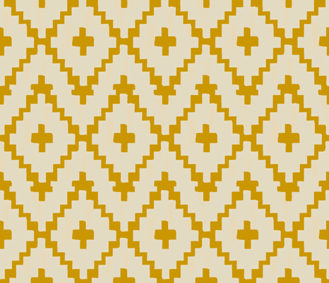 Southwest_ diamond chevron - light taupe on gold  fabric by fable_design on Spoonflower - custom fabric