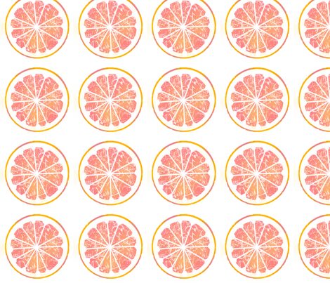 pink grapefruit love fabric by domoshar on Spoonflower - custom fabric