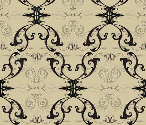 Damask Princess fabric by garwooddesigns on Spoonflower - custom fabric