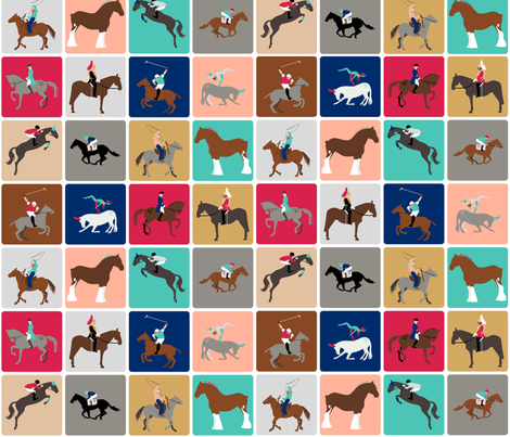 harlequin horses fabric by mimihammill on Spoonflower - custom fabric