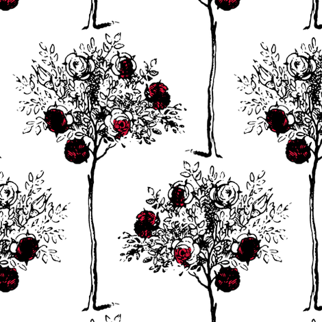 White to Red fabric by pond_ripple on Spoonflower - custom fabric