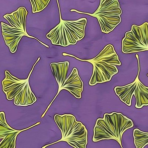 Ginkgos on Purple