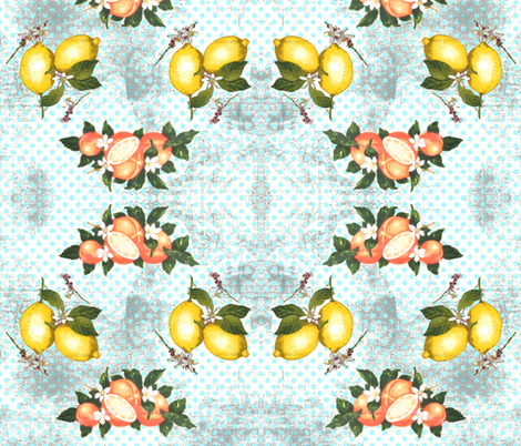 Citrus vintage now fabric by fantazya on Spoonflower - custom fabric