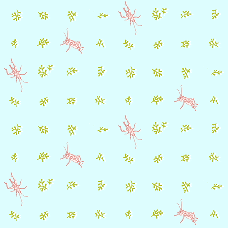 Ditsy Crickets fabric by imaginaryanimal on Spoonflower - custom fabric