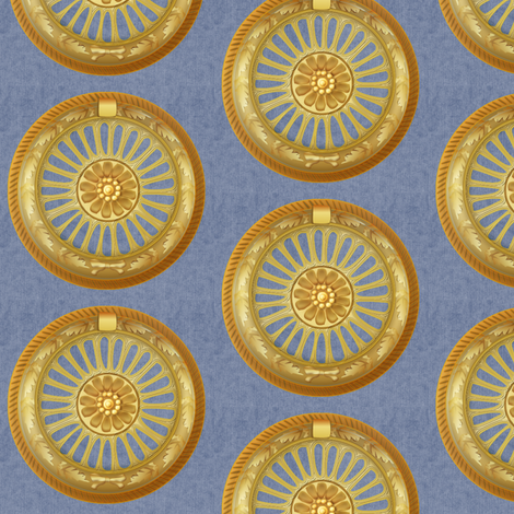 WREATH ornament - blue fabric by glimmericks on Spoonflower - custom fabric