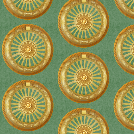 WREATH ornament - green fabric by glimmericks on Spoonflower - custom fabric
