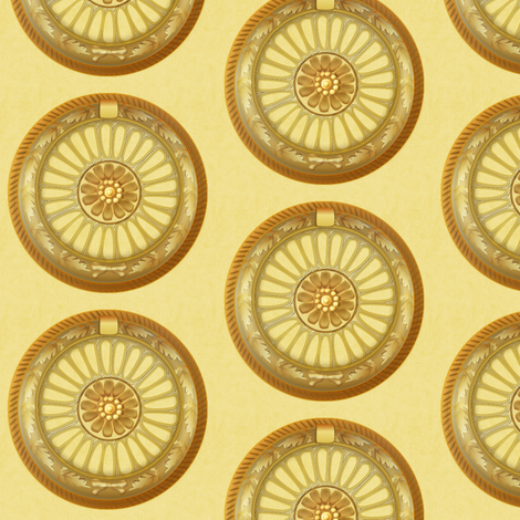 WREATH ornament - gold fabric by glimmericks on Spoonflower - custom fabric