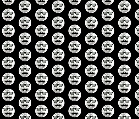Man In The Moon With Style fabric by supernaturalbody on Spoonflower - custom fabric