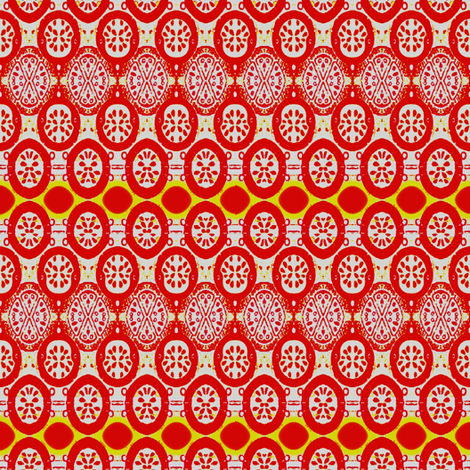 orange red motif fabric by dk_designs on Spoonflower - custom fabric