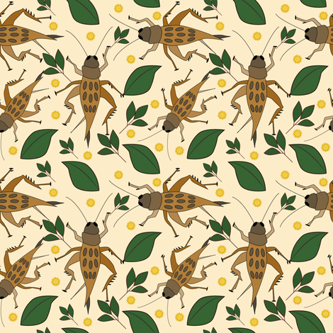 click-it-cricket fabric by fiona_sinclair_design on Spoonflower - custom fabric