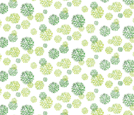 Wishflower in green fabric by creative_cat on Spoonflower - custom fabric