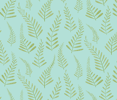 Ferns fabric by jillbyers on Spoonflower - custom fabric