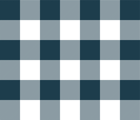 IMPROVED wool parka check - navy and white fabric by weavingmajor on Spoonflower - custom fabric