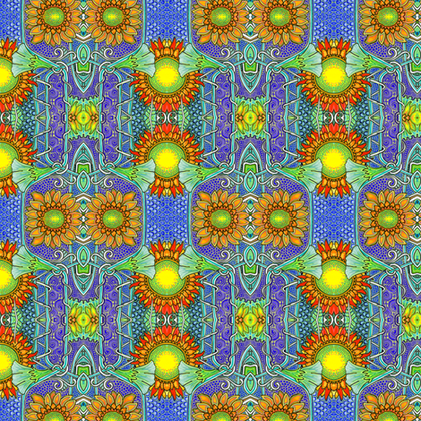 That Twin Sunflower Summer fabric by edsel2084 on Spoonflower - custom fabric