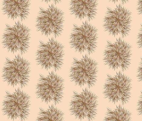 Dandylion_Swirl__Peach fabric by patsijean on Spoonflower - custom fabric