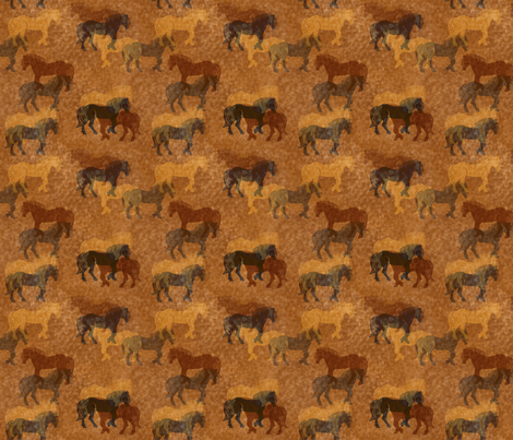 Horses Batik fabric by shellystewart on Spoonflower - custom fabric