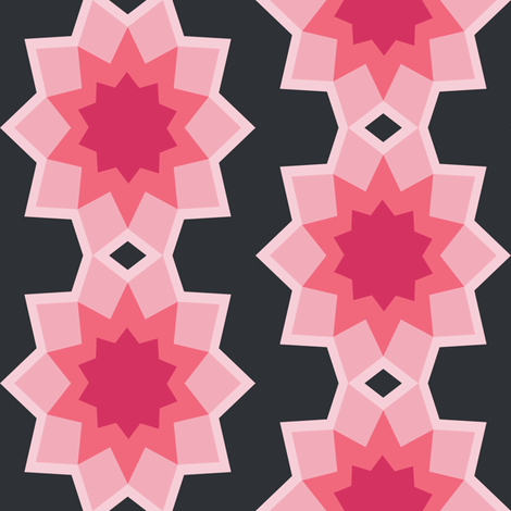 Starburst Pink - Flower fabric by karapeters on Spoonflower - custom fabric