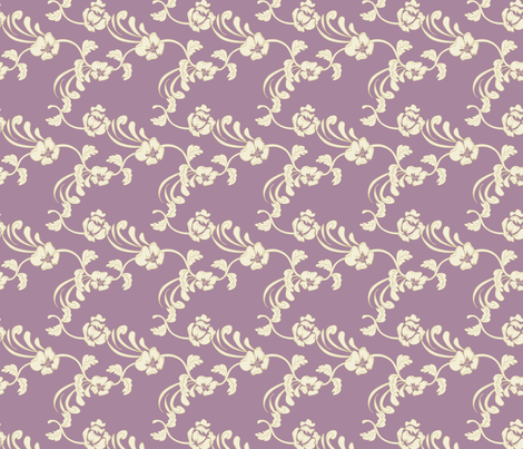 Damask_Purple fabric by lana_gordon_rast_ on Spoonflower - custom fabric