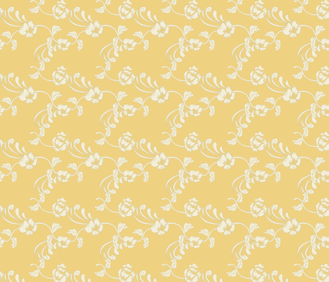 Damask_Yellow fabric by lana_gordon_rast_ on Spoonflower - custom fabric