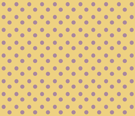 Purple___Yellow_Polka_Dots fabric by ©_lana_gordon_rast_ on Spoonflower - custom fabric